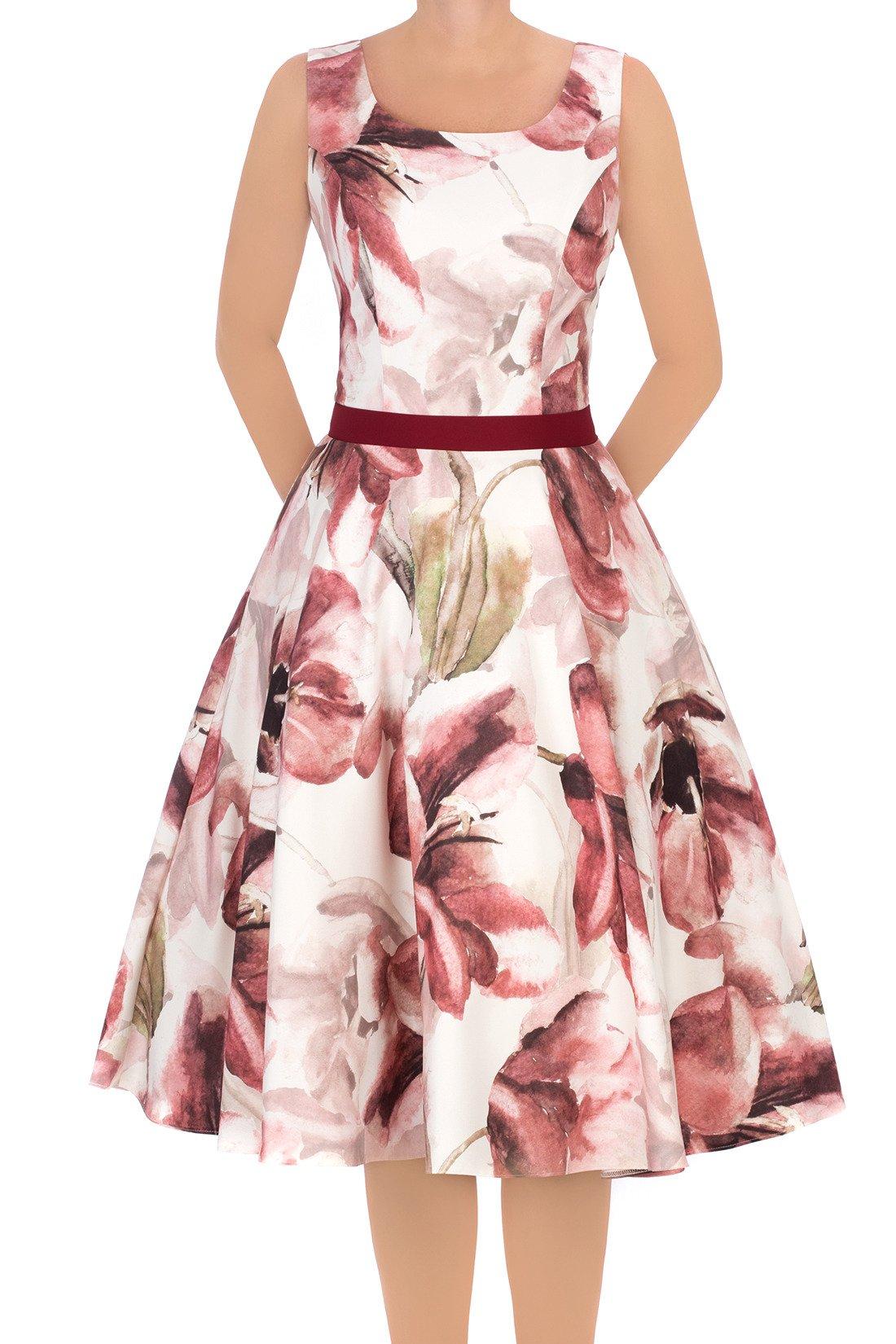 418beaa360 Sukienka Cller rozkloszowania w różowe kwiaty Kliknij