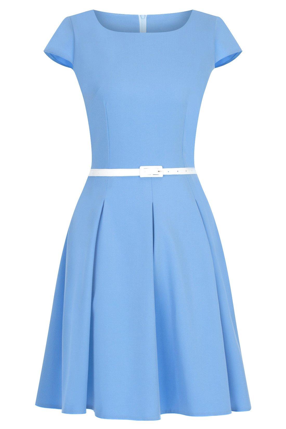 841c5b8f8d Sukienka Gotta niebieska z paskiem w talii Kliknij