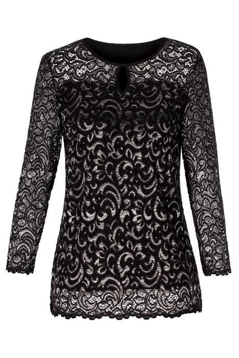 Bluzka Marguerite by Mako czarna koronka