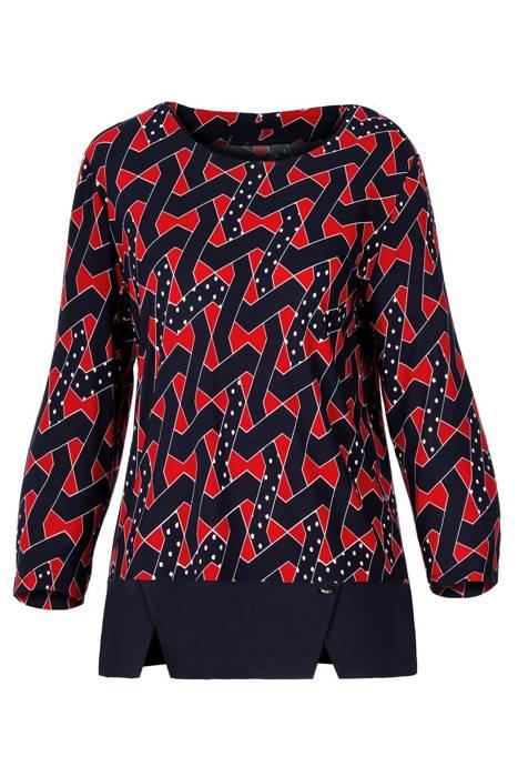 Bluzka Marguerite by Mako granatowo-czerwona