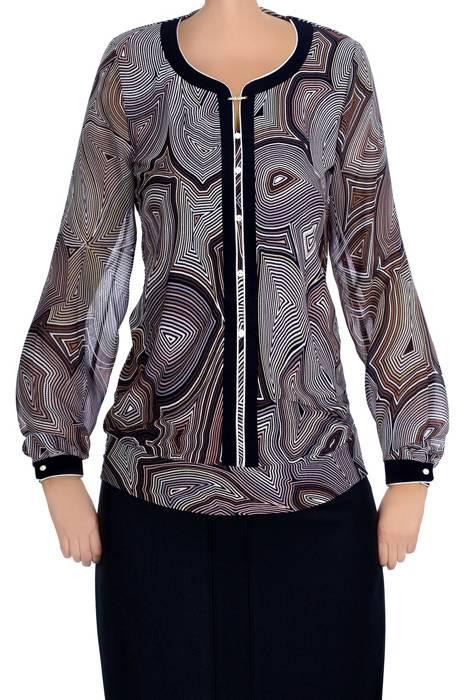 Bluzka damska 3986 w kolorowe paski