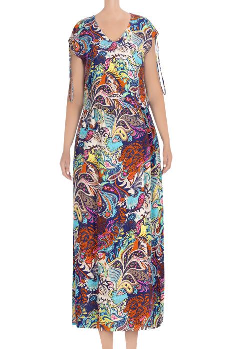 Długa, letnia sukienka wielokolorowa 3442