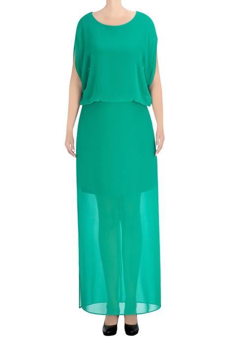 Długa sukienka Alicja zielona 3436