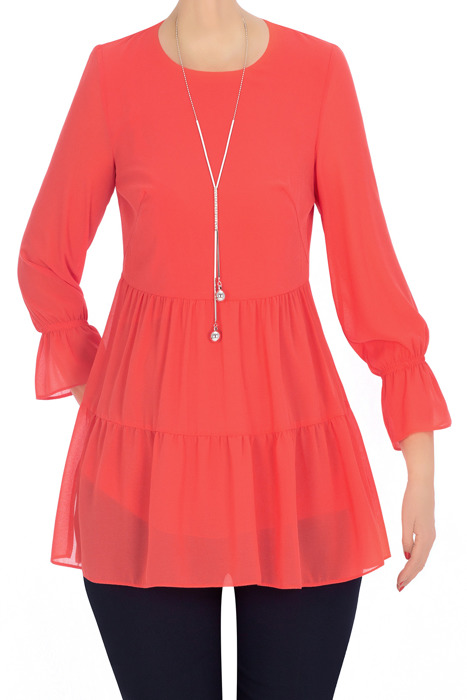 Elegancka bluzka damska Candy koralowa 3330