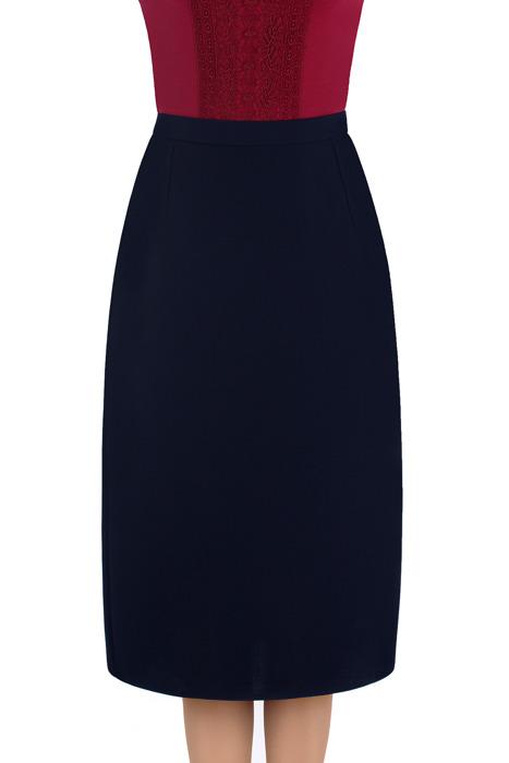 Elegancka spódnica Nicole granatowa prosty fason