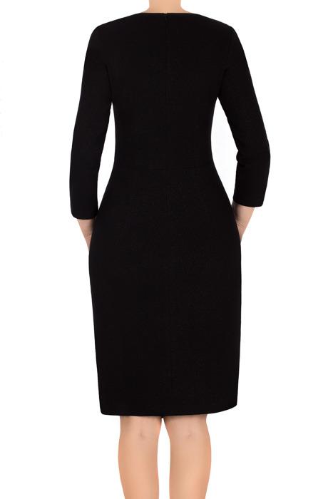 Elegancka sukienka Lotos Iza czarna asymetryczna