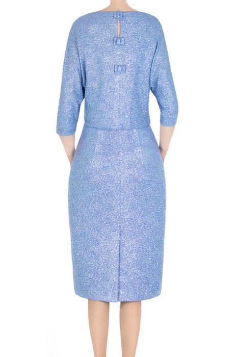 Elegancka sukienka damska Raffaella niebieska srebrna 3311
