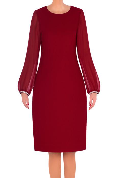 Elegancka sukienka damska Sara bordowa 3139