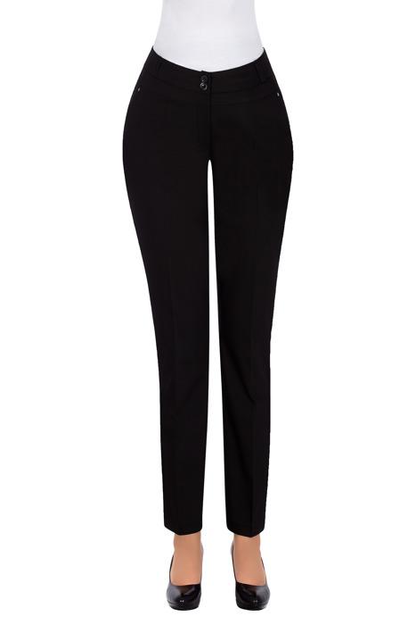 Eleganckie spodnie 7/8 czarne 3241