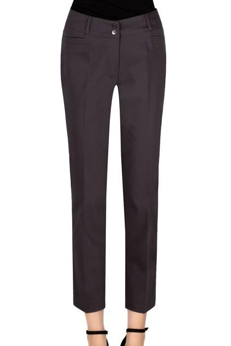 Eleganckie spodnie 7/8 stalowe MTM