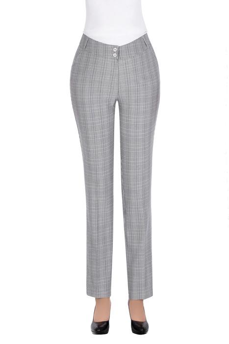 Eleganckie spodnie MTM 73 szare w kratkę
