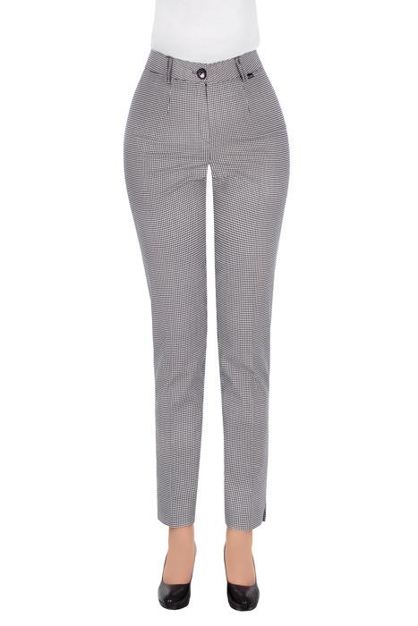 Eleganckie spodnie damskie w pepitkę 3263
