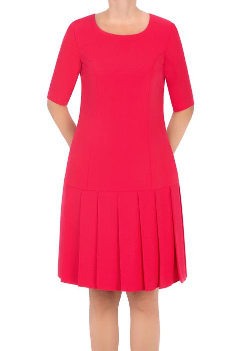 Klasyczna sukienka Rene Monika koralowa prosty fason