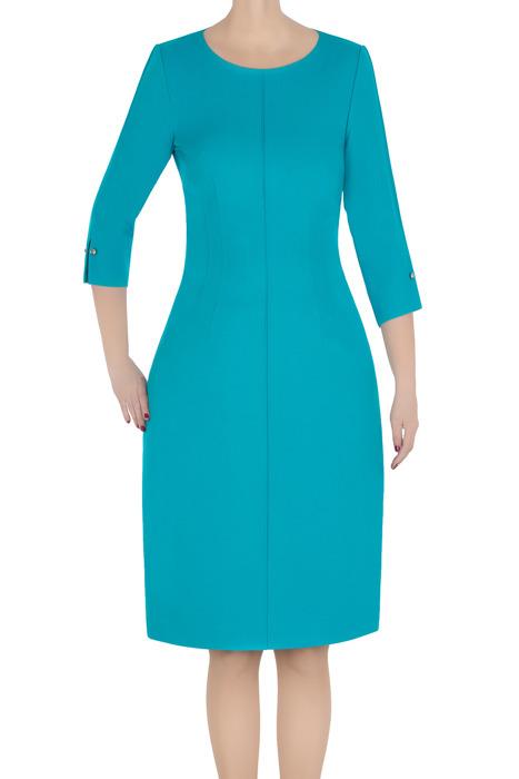Klasyczna sukienka damska Dagon 2786 morska