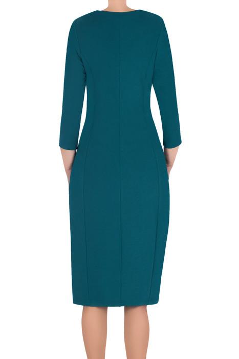 Klasyczna sukienka damska Lotos Ela morski