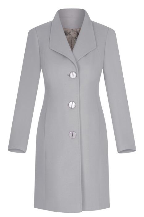 Klasyczny płaszcz damski Moris Aga jasny szary