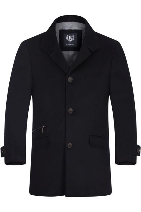 Klasyczny płaszcz zimowy Lavard Raul 2 Verona 20547 ciemny granat