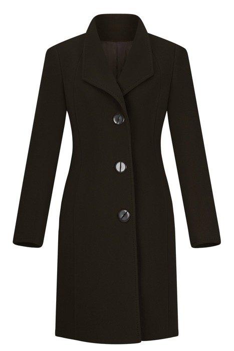 Klasyczny płaszcz zimowy Moris Aga ciemny zielony wełna