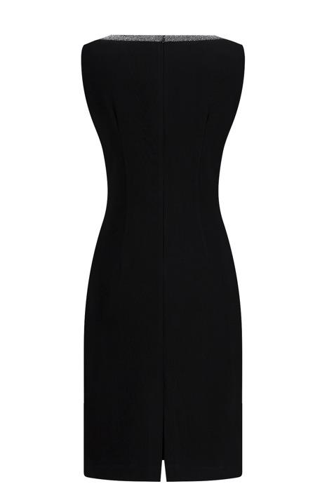 Komplet Dagon 2052 czarny - sukienka i żakiet