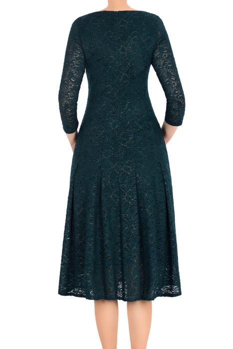 Koronkowa sukienka Maria Magdalena Natalia butelkowa zieleń