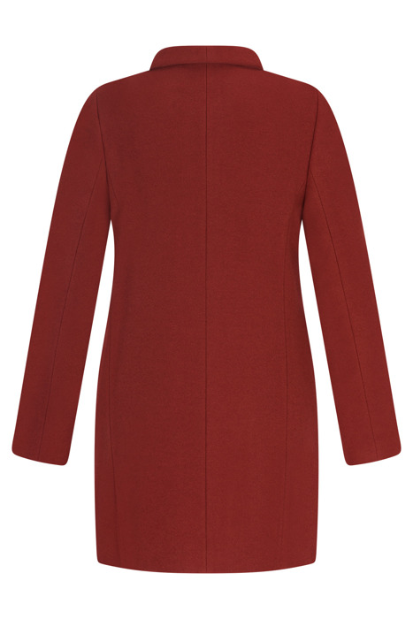 Kurtka zimowa Caro Fashion 2860 rdzawy czerwony kołnierzyk wełniana