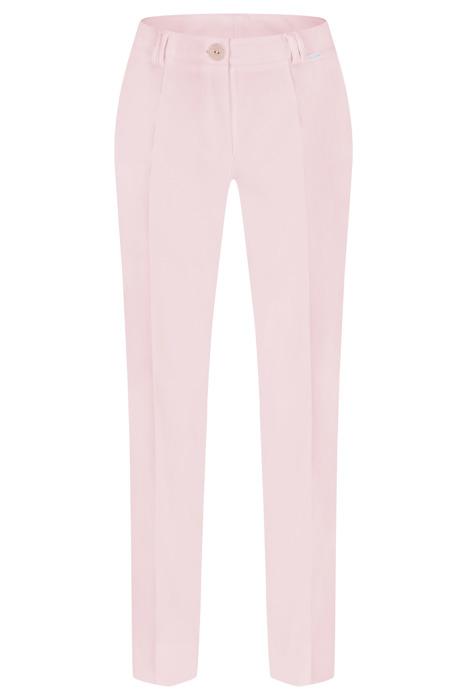 Spodnie damskie Hela blady róż rozciągliwe wysokie w stanie długość 7/8