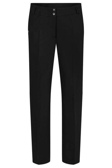 Spodnie damskie długie model 665 czarne wysokie w stanie