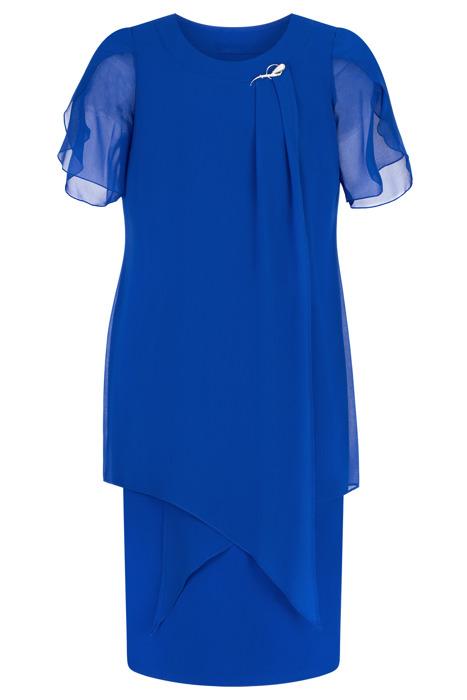 Sukienka Andrea szyfonowa chabrowa tuszująca