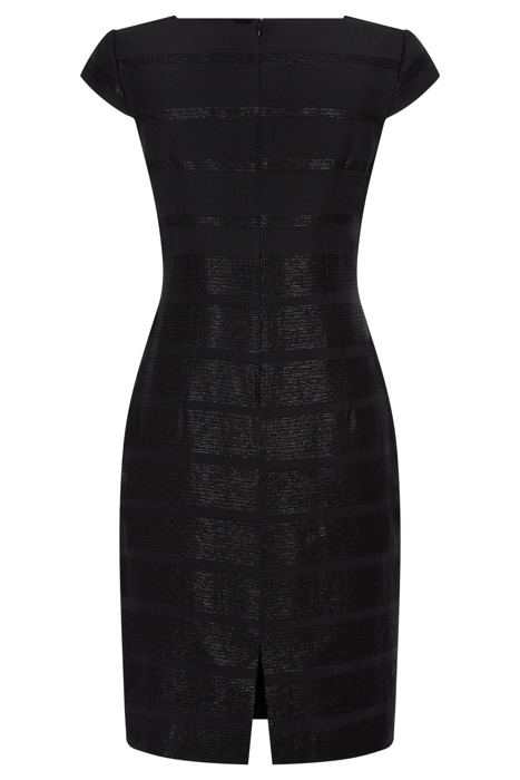 Sukienka Dagon 2284 czarna w błyszczące paski
