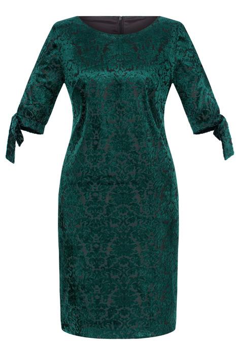 Sukienka Dagon 2518 butelkowa zieleń a'la welur