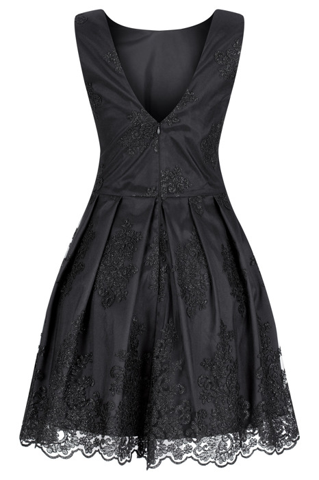 Sukienka Koton II młodzieżowa rozkloszowana koronkowa czarna