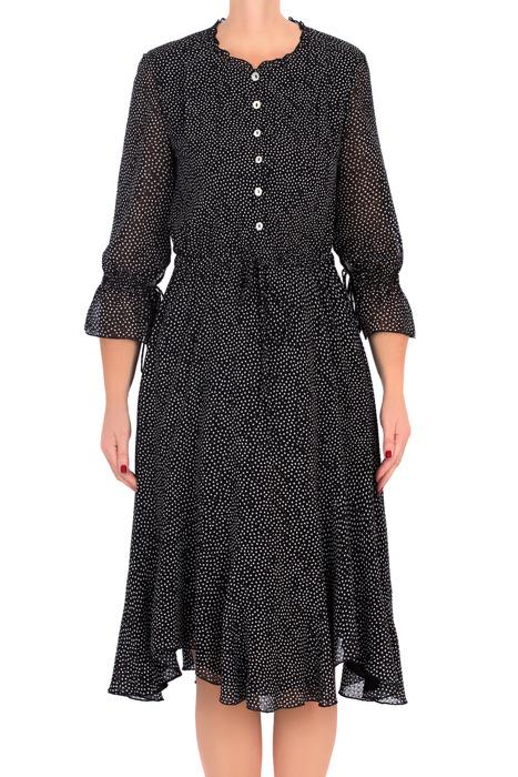 Sukienka Maria Magdalena Aluna czarna w białe groszki
