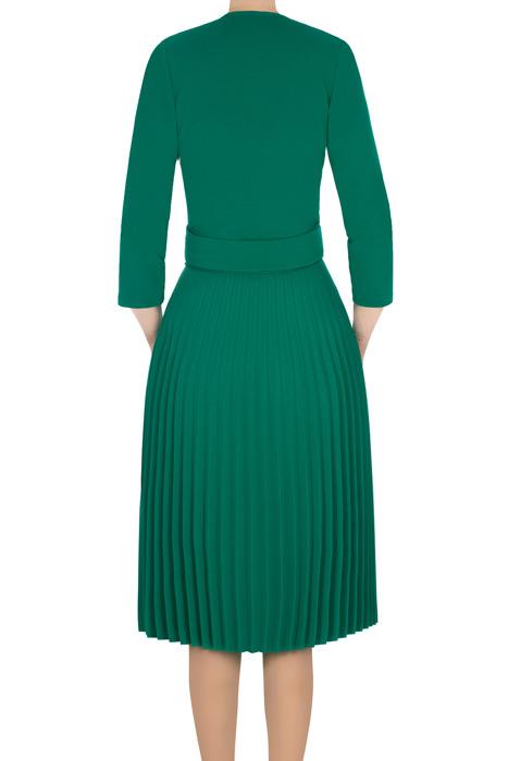Sukienka Solejka zielona plisowana 3188