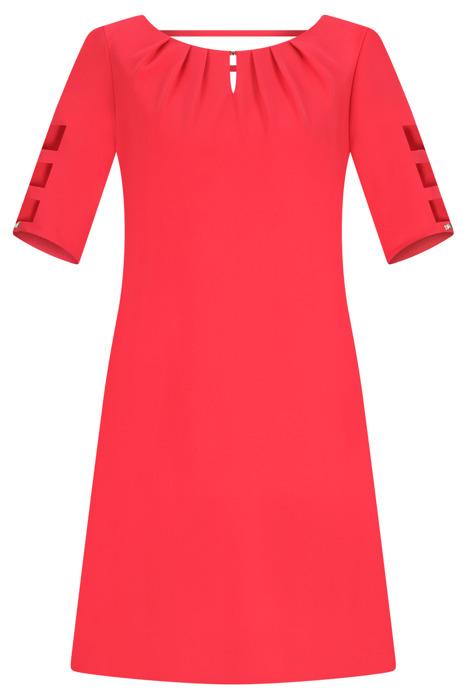 Sukienka Trynite TK-15 koralowa trapezowa