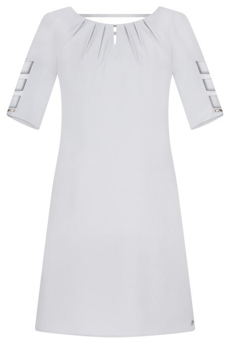 Sukienka Trynite TK-15 szara trapezowa