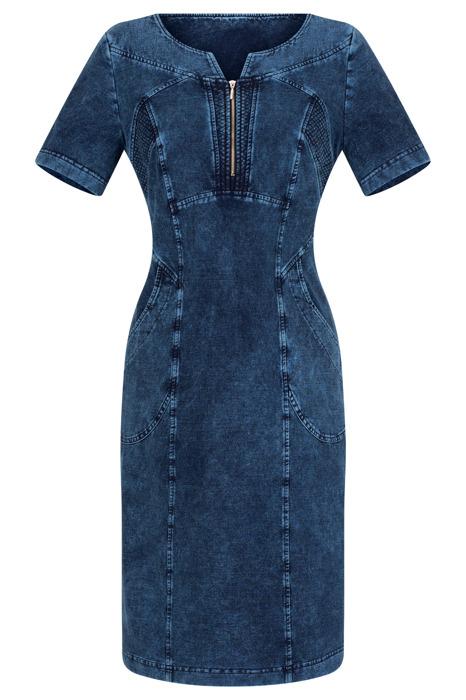 Sukienka dzianinowa Agata J505 jeansowa