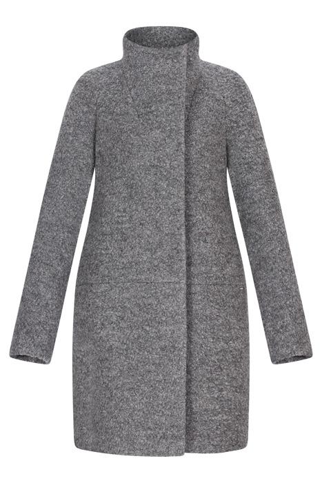 Zimowy płaszcz damski Zartex Wiola szary melanż oversize