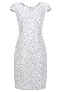 Sukienka Dagon 2195 szara w srebrne wzory
